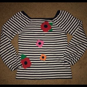 Gymboree size 7 floral and stripes L/S shirt